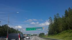 arrivée sur Stockholm. 35° et embouteillage