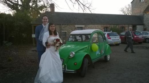 mariage en 2cv